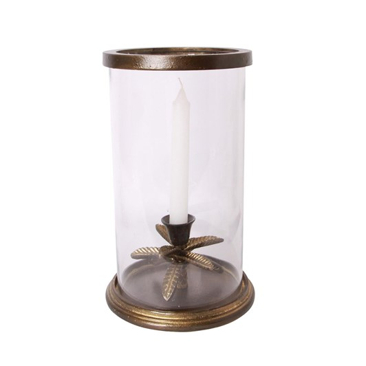 French Country Palm Hurricane Brass