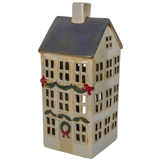 French Country Strasbourg Grande Tealight Chalet Red