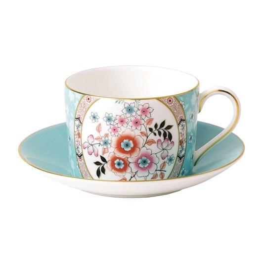 Wedgwood Wonderlust Camellia Teacup & Saucer