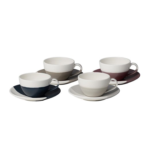 Royal Doulton Coffee Studio Flat White Cup & Saucer Set of 4