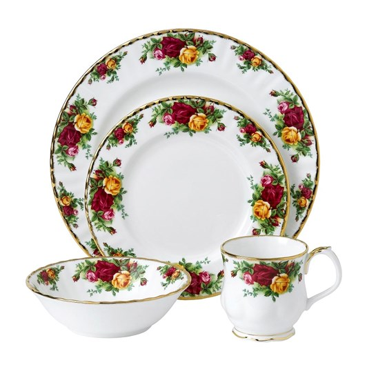 Royal Albert Old Country Roses 4 Piece Set