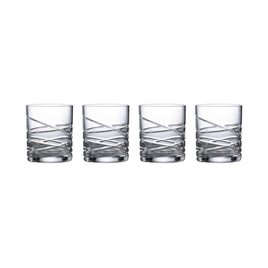 Royal Doulton Saturn Nouveau Crystal Tumbler Set Of 4