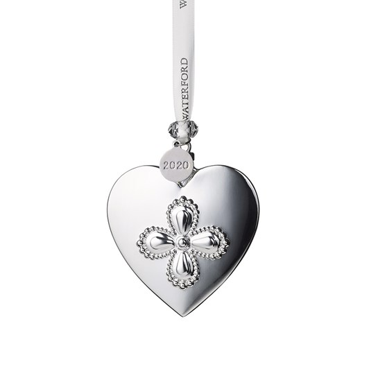 Waterford Heart Silver Ornament 2020