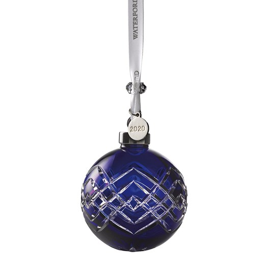 Waterford Blue Crystal Bauble 2020