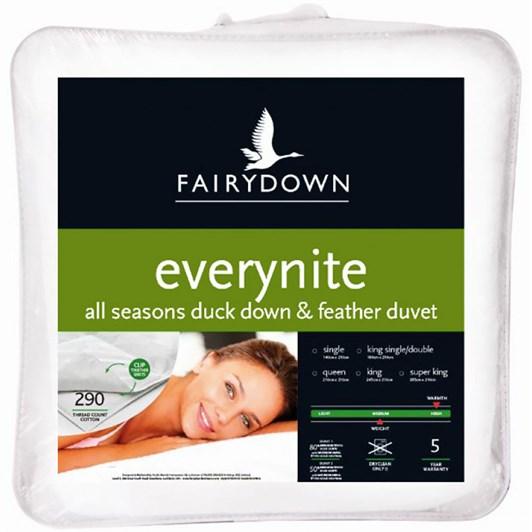Fairydown Everynite Year Round Duck Down Duvet 80/20