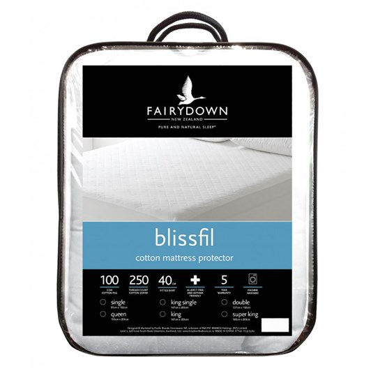 Fairydown Blissfil Cotton Mattress Protector
