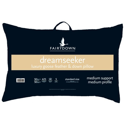 The Dreamseeker Luxury Goose Feather & Down Pillow - Med