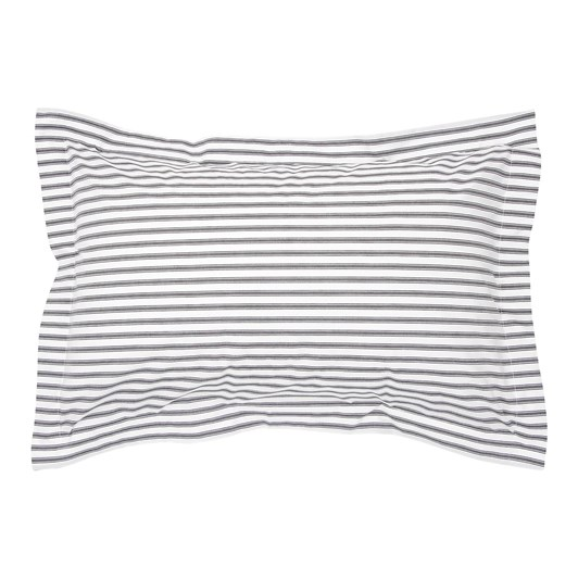 Wallace Cotton Organic Ticking Oxford Pillowcase Pairs