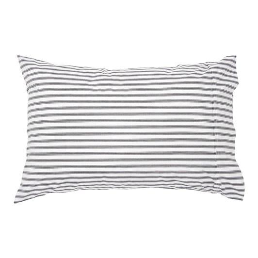 Wallace Cotton Organic Ticking Standard Pillowcase Pairs