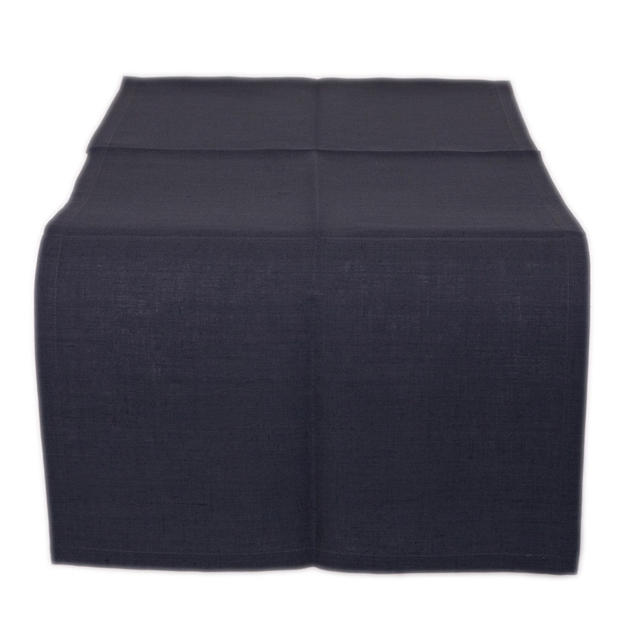 Ottoman Pure Linen Table Runner 50x180 - charcoal
