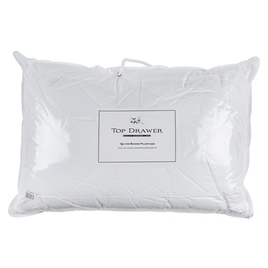 Top Drawer Bamboo Pillow 1050g - Cotton Outer