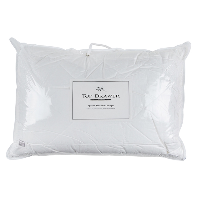 Top Drawer Bamboo Pillow 1050g - Cotton Outer -