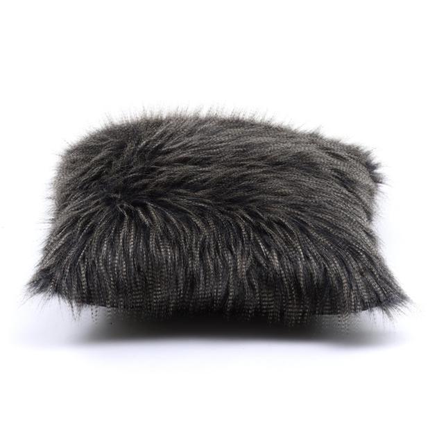 Heirloom Faux Fur Cushion 45x45cm - dark pheasant