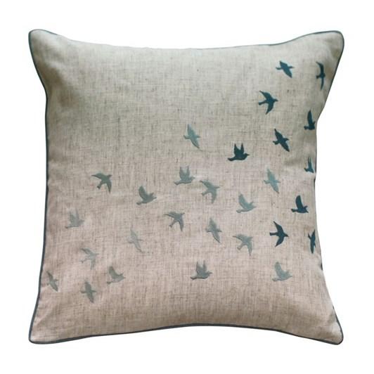 MM Linen Flock of Birds Cushion 45x45cm