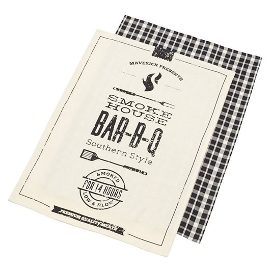 Smoke House Cotton Tea Towel set of 2
