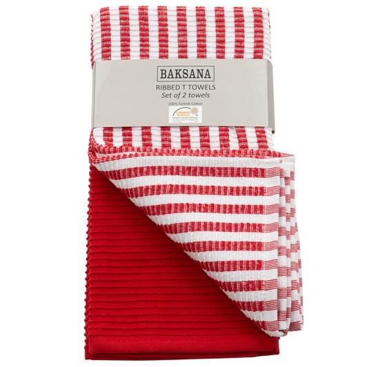 Baksana Ribbed Tea Towel Set