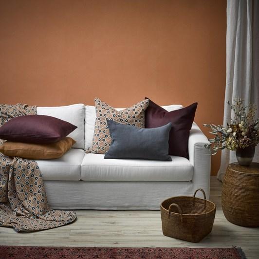 Thread Design Arabesque Velvet Cushion 60x60cm