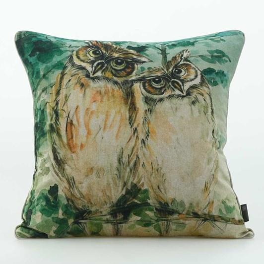 MM Linen Owl Cushion 50x50cm