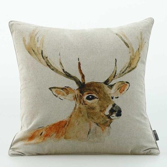MM Linen Stag Cushion 50x50cm