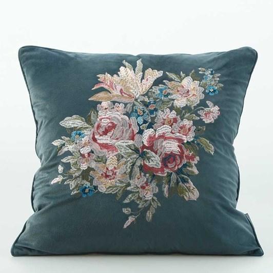 MM Linen Vintage Bluestone Cushion 50x50cm