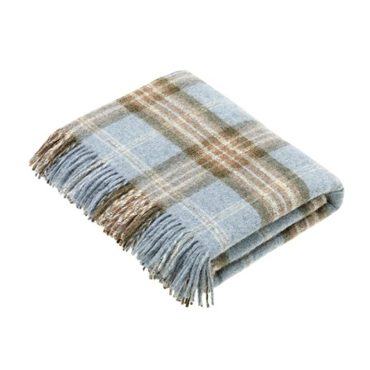 Bronte Montacute Aqua & Natural Pure New Wool Throw