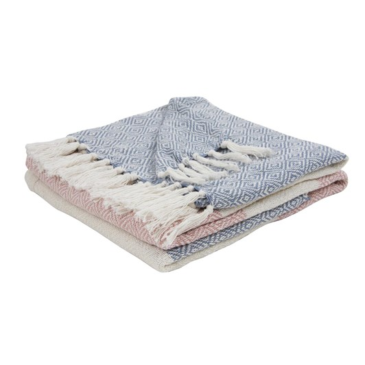 Wallace Cotton Coconut Ice Throw