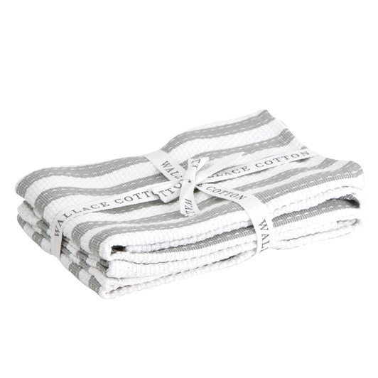 Wallace Cotton Stripe Tea Towel Set Of 2