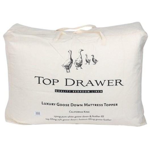 Top Drawer Luxury Goose Down Mattress Topper