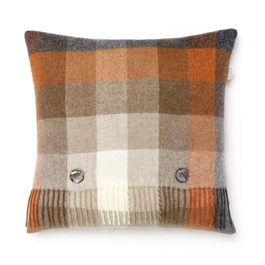 Bronte Harlequin Saffron Lambswool Cushion