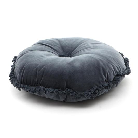 Wallace Cotton Fringed Velvet Round Cushion (Filled)