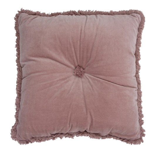 Wallace Cotton Fringed Velvet Square Cushion (Filled)