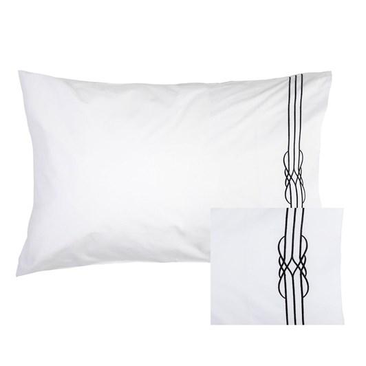 Deco Black Embroidered Pillowcase Pair 50x75cm