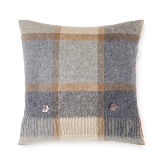 Bronte Geometric Lambswool Cushions Block Windowpane