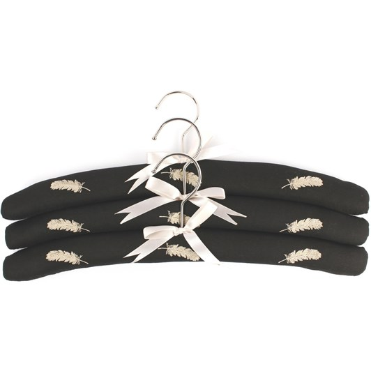 Feathers Embroidered Hangers Pack Of 3