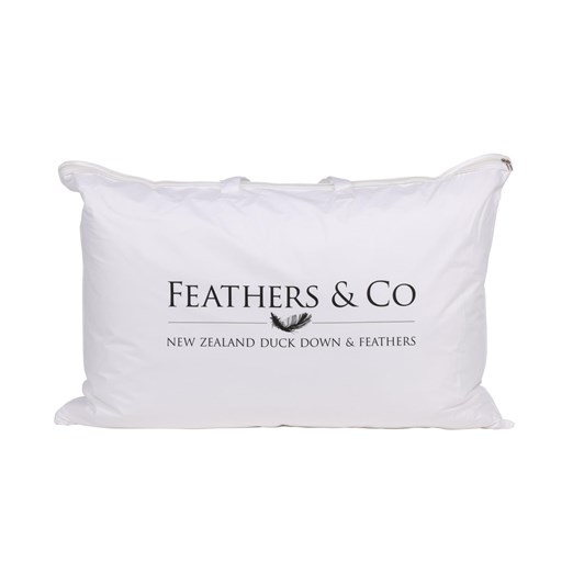 Feathers & Co Premium NZ Duck Feather And Down Standard Pillow Medium 75x50