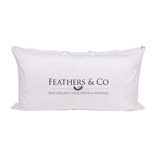 Feathers & Co Premium NZ Duck Feather And Down Lodge Pillow 90x50