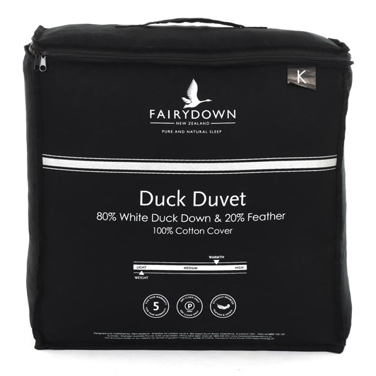 Fairydown Duck Duvet - 80% Down/20% Feather