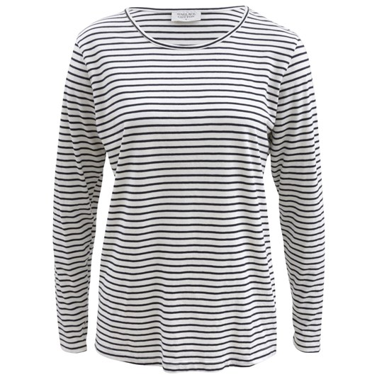 Wallace Cotton Magali Stripe Long Sleeve Tee