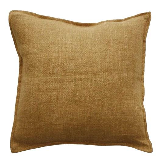 Mulberi Flaxmill Cushion With Feather Inner Nutmeg 50x50cm