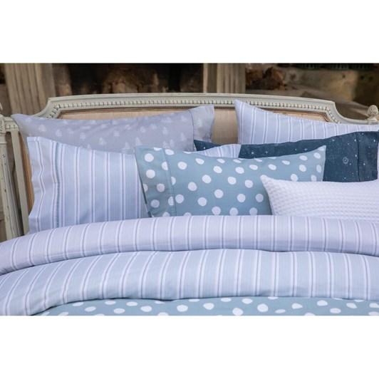 Wallace Cotton Blue Stripe Flannel Sheet Set