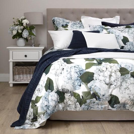 Wallace Cotton Blue Hydrangea Duvet Set