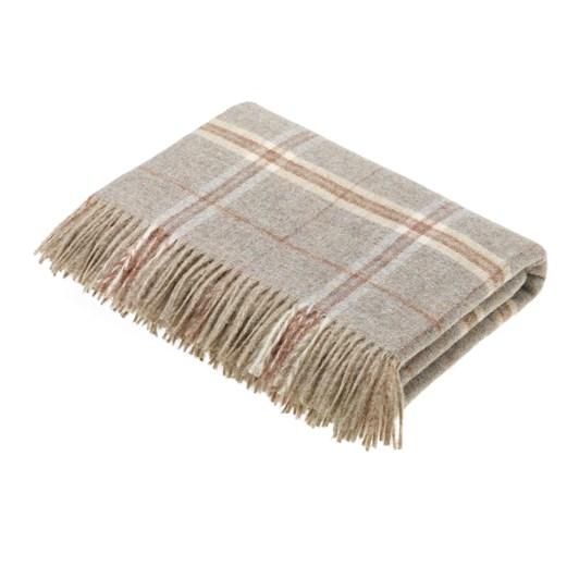 Bronte Transitional Sandstone Windowpane Wool Throw