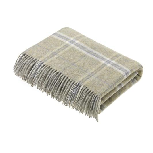 Bronte Transitional Onyx Windowpane Wool Throw