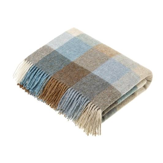 Bronte Harlequin Eau De Nil Wool Throw