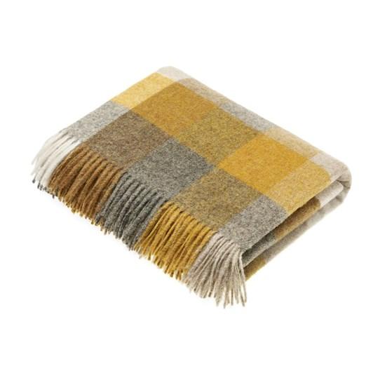 Bronte Harlequin Mustard Wool Throw