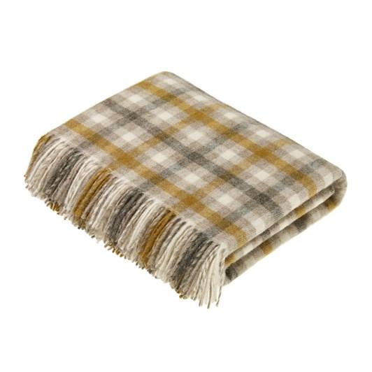 Bronte Bilbury Natural Check Wool Throw