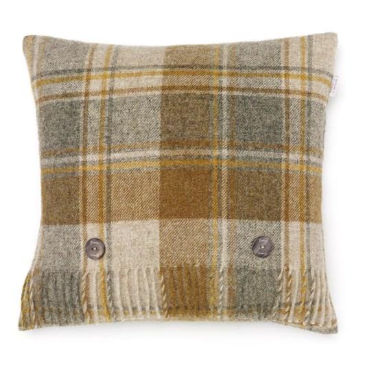 Bronte Snowshill Mustard Check Cushion