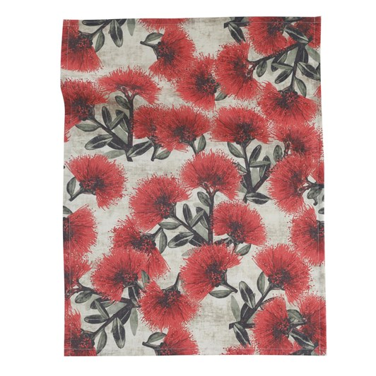 MM Linen Pohutukawa Tea Towel 50x70