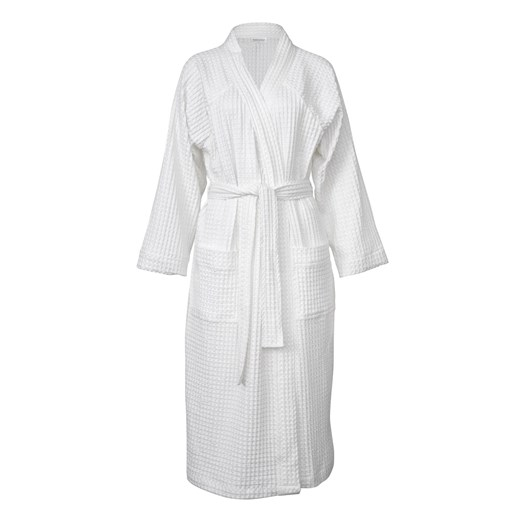 Wallace Cotton Clooney White Waffle Robe