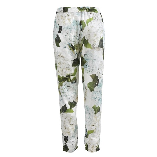 Wallace Cotton Hydrangea Blue PJ Pant With Elasticated Cuff